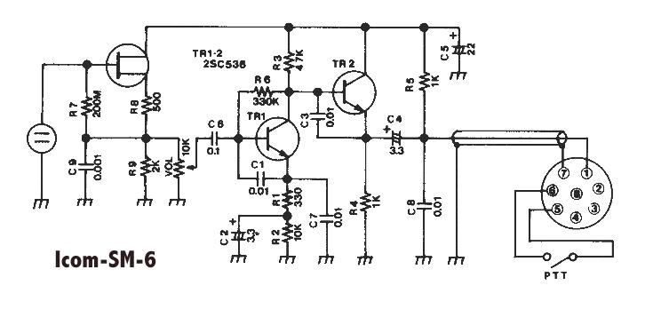 icom 8 pin mic wiring