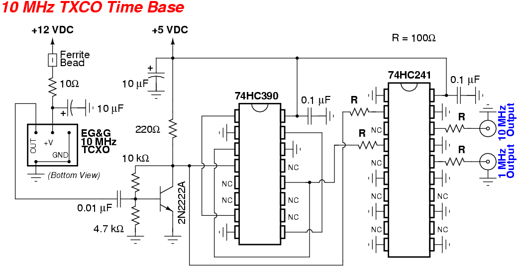 10 hz timebase with cd4017