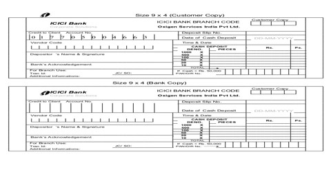 Pay-in-slip definition in terms of Recording of Transactions - QS Study - pay in slips