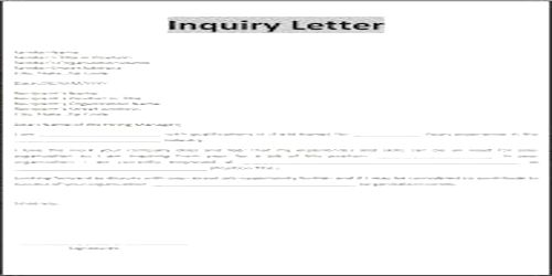 Contents or Elements of Business Status Inquiry Letter - QS Study