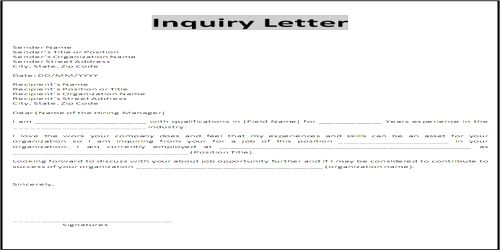Importance of Business Status Inquiry Letter - QS Study - inquiry letter for business