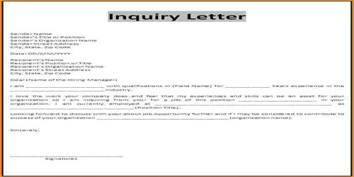 Meaning of Inquiry Letter - QS Study - an inquiry letter