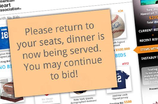 Silent Auction Mobile Bidding Charity Auctions Qtego Auction - silent auction app free
