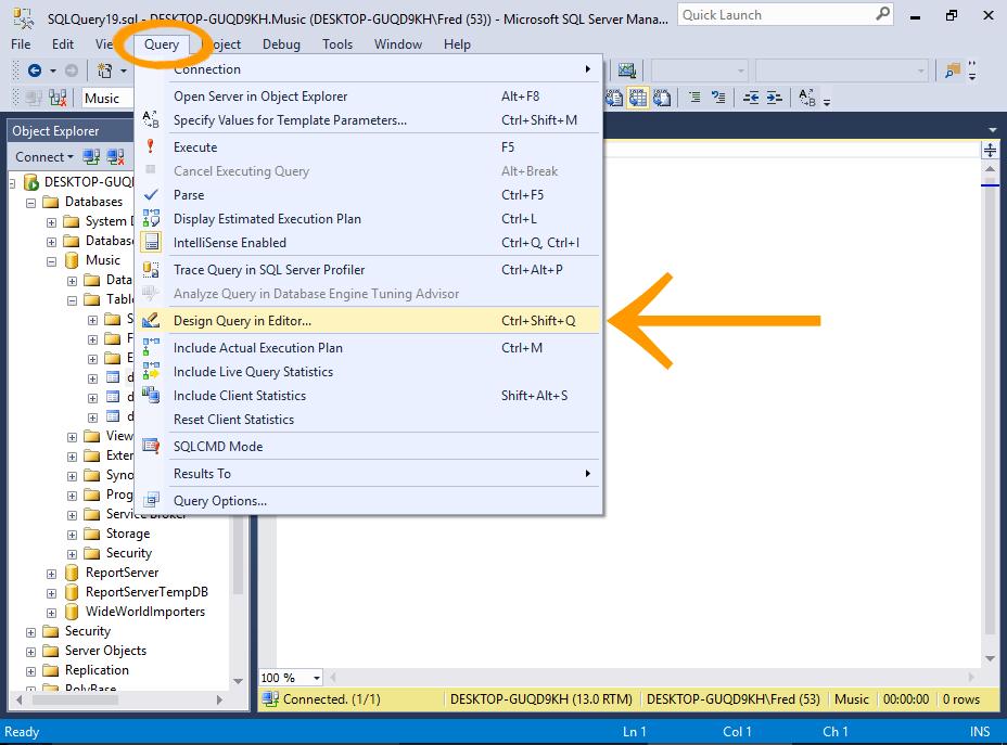 sql server database designer