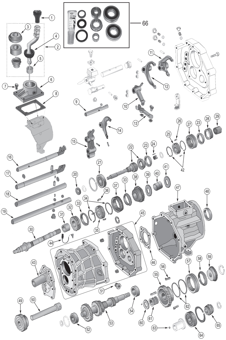 88 jeep wrangler exhaust parts diagram