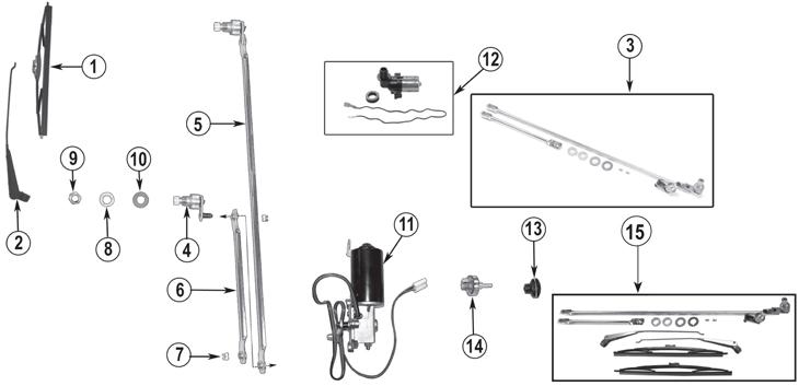 Jeep CJ Series Wiper Parts (\u002776-\u002786) Quadratec