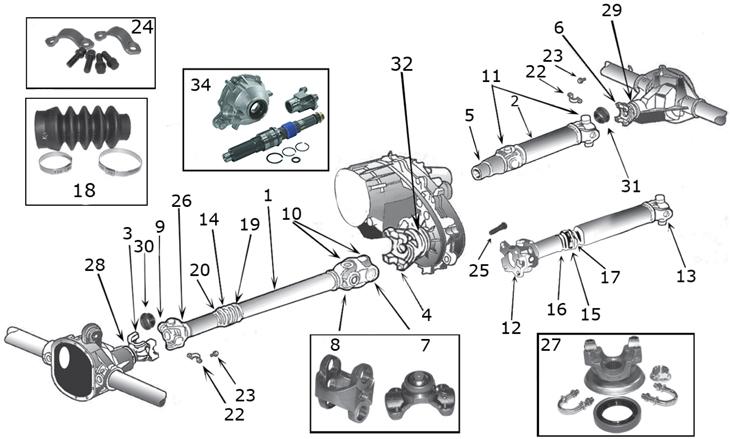 jeep driveline diagram