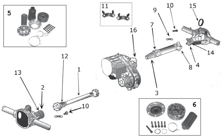 jeep axle diagram