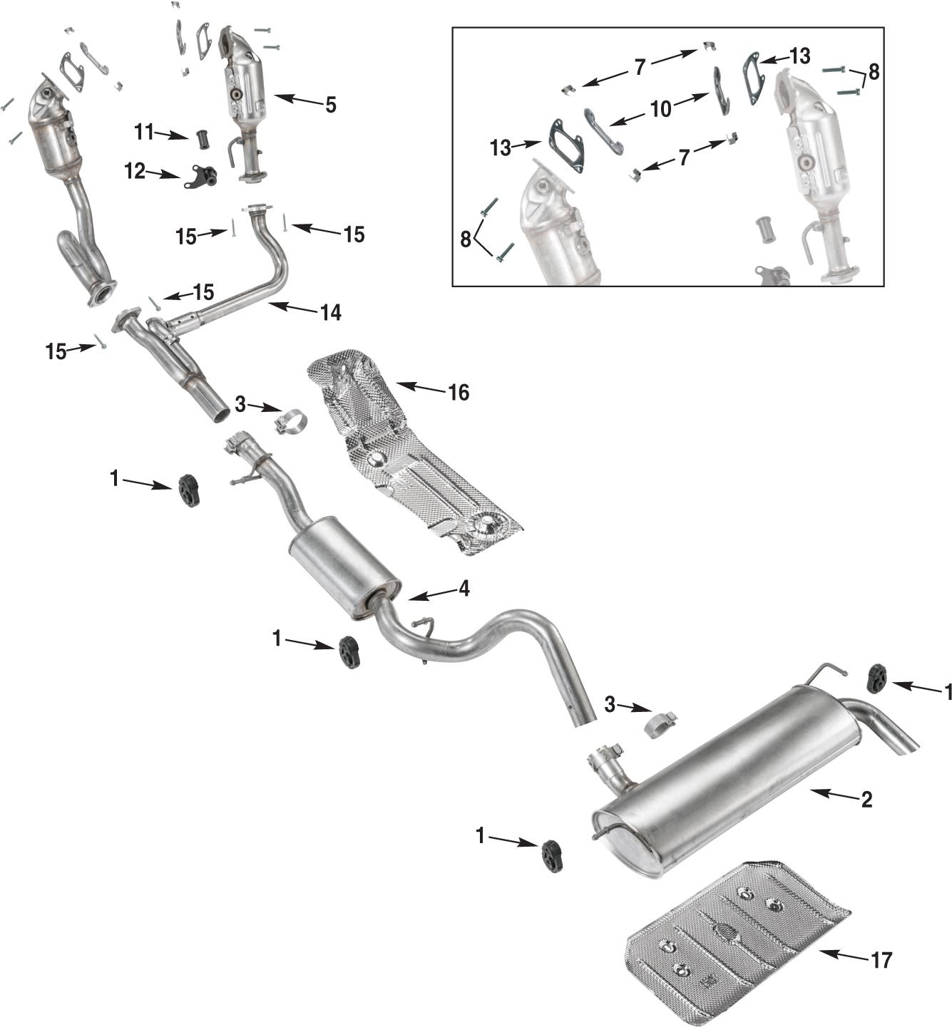 99 jeep wrangler exhaust diagram
