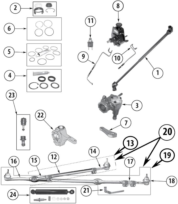 jeep yj steering diagram