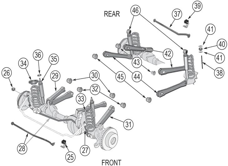 jeepsuspensionpartsdiagram grand cherokee zj suspension lift kits