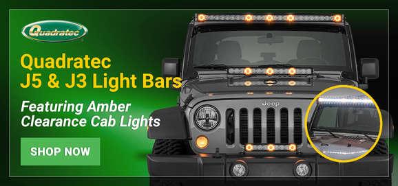 Jeep Lights, Light Bars  Mounts Quadratec - Free Shipping