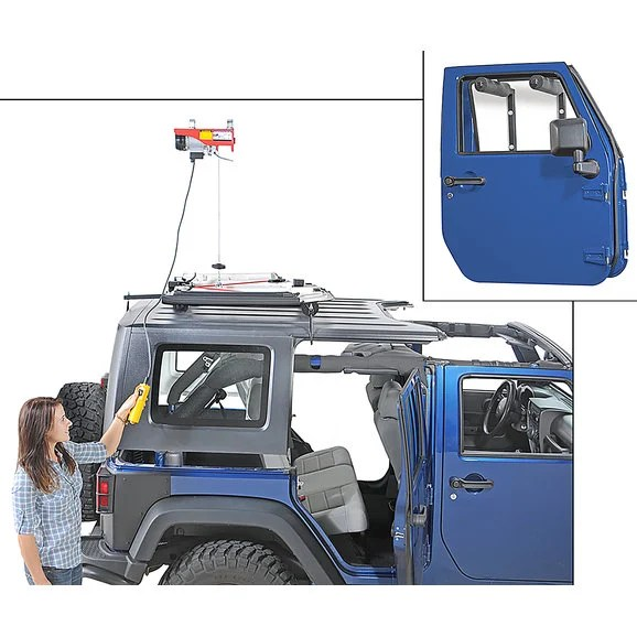Lange Originals Power Hoist-a-Top  Door Hanger Combo for 07-18 Jeep