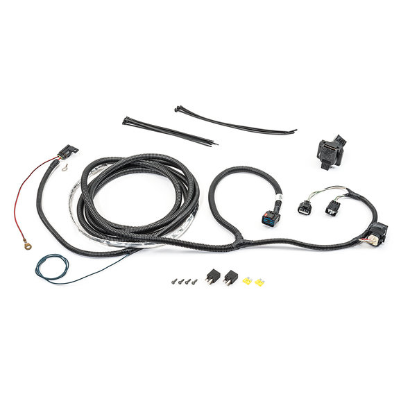 Mopar 82209769AB 7-Way Round Hitch Wiring Harness for 05-06 Jeep