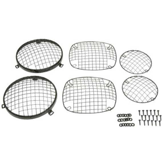Kentrol Stainless Steel Wire Mesh Stone Guard Set for 76-86 Jeep CJ