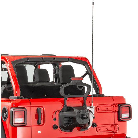 Quadratec Extreme Duty Stainless CB Radio Antenna Rear Tailgate