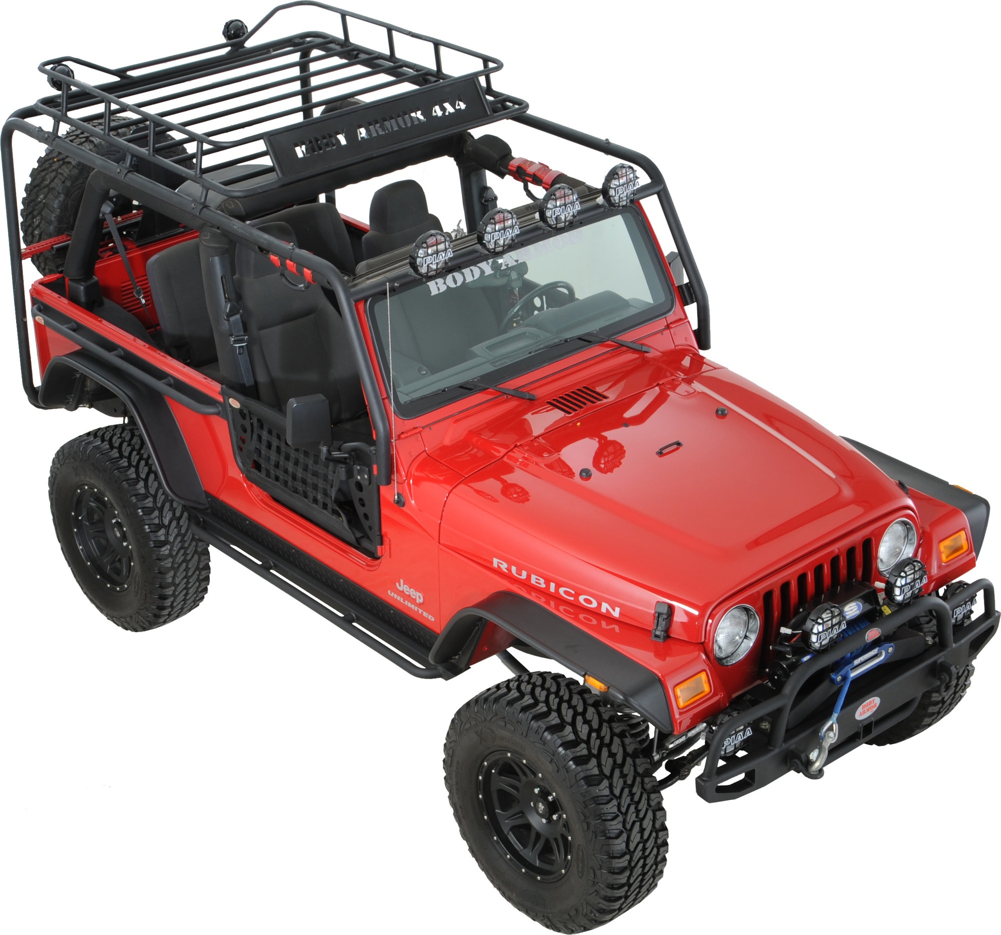Body Armor Tj 6125 Roof Rack Base Kit For 97 06 Jeep
