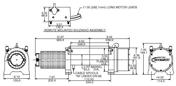 ramsey pro 9000 winch wiring diagram