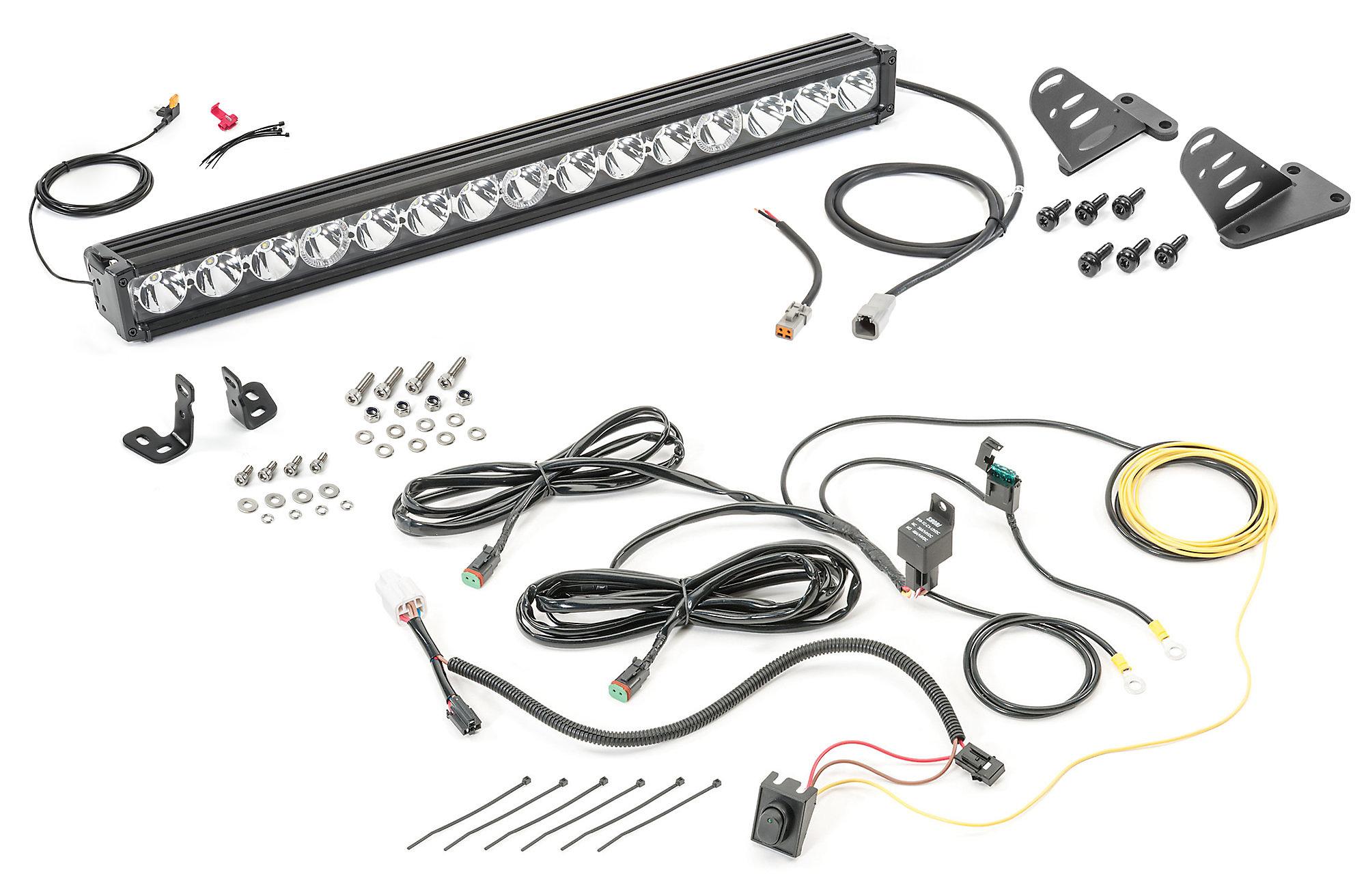 wiring light bar jeep tj