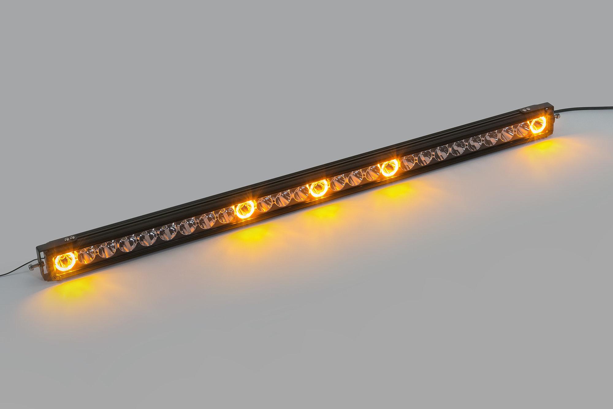 Quadratec J5 Led Light Bar With Amber Clearance Cab Lights