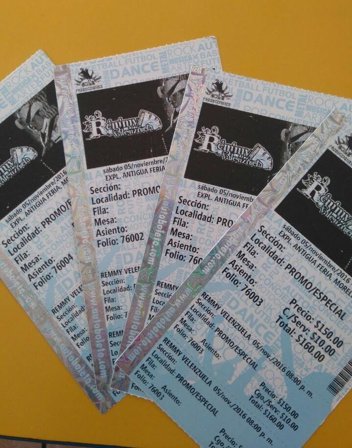 Venden en Facebook boletos falsos de evento de Remmy Valenzuela - como hacer boletos para un evento