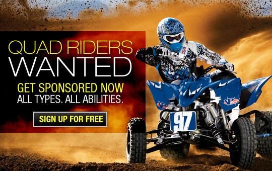 Quad Sponsorships, ATV Sponsorships, Quad Sponsors,