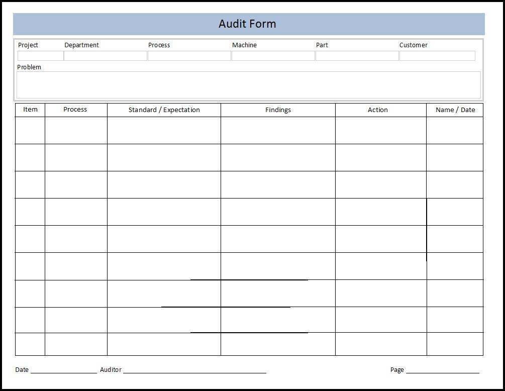Quality Assurance Plan Template Free Sample Format - mandegarinfo - quality assurance form template