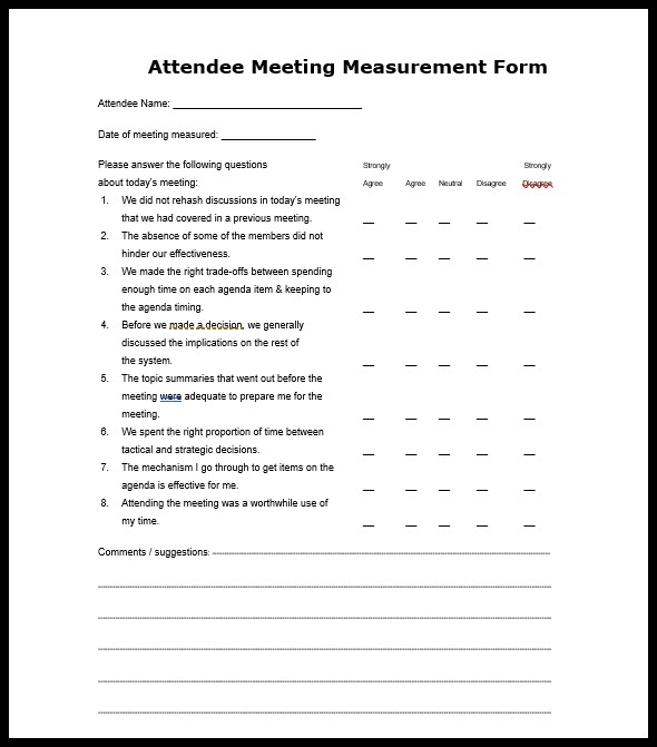 Business Meeting Agenda Format