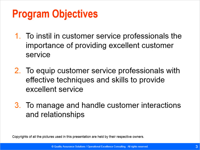 Customer Service Training Material PowerPoint - good customer service skills example