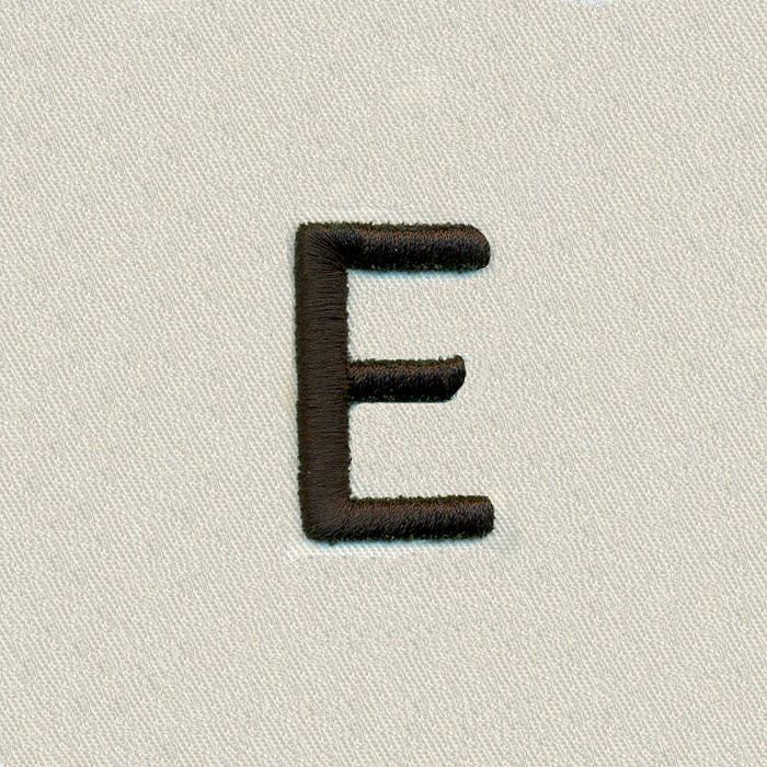 Puff Block Handwriting Letter E \u2013 Quality Collection