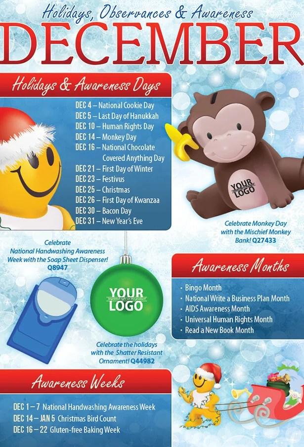 2017 Holidays 2017 Calendar Of Events Teaching Ideas December Holidays And Observances Calendar Template 2016