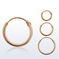 Hinged Nose Ring Hoop Rose Gold Plated Sterling Silver ...