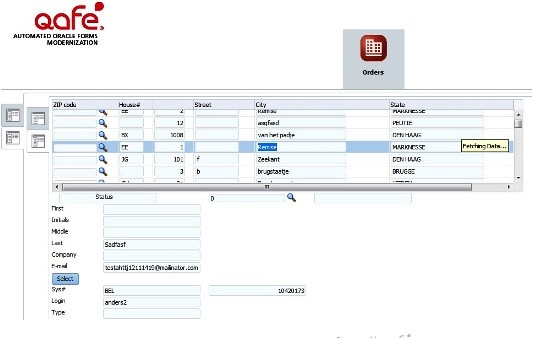 Test converting Oracle forms to ADF with QAFE - Qualogy - order form layout