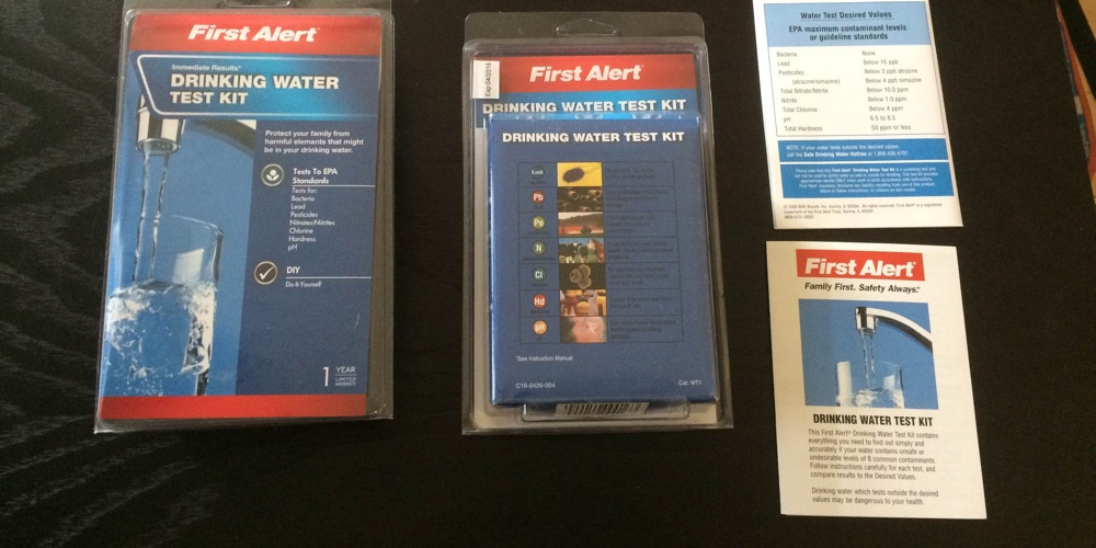 first alert water quality test kit