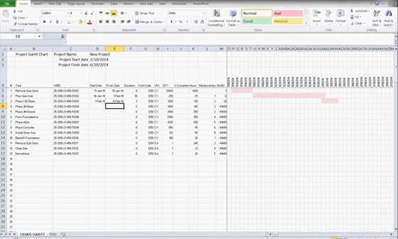 Excel construction schedule templates for project management - construction schedules templates