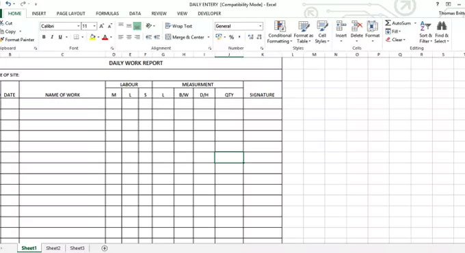 Daily Work Report Template Construction Daily Work Report Template - daily work report template
