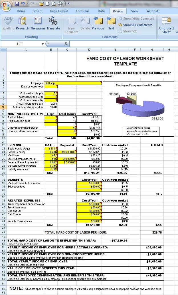 labor rate sheet template - Bire1andwap