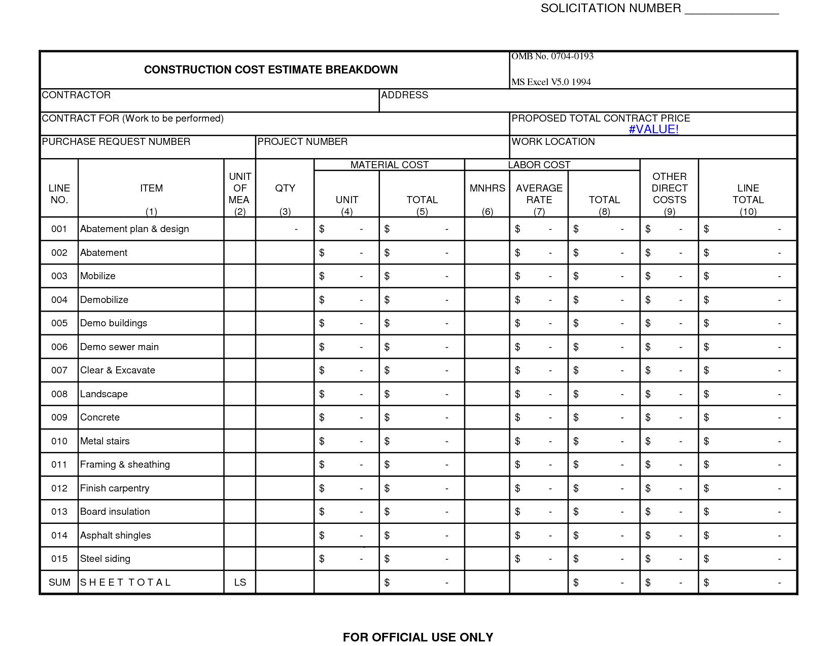 Bathroom Remodel Cost Sheet bathroom remodel budget worksheet