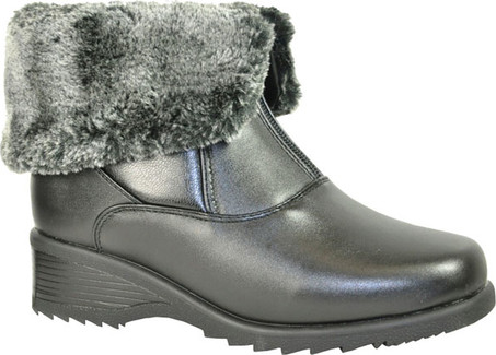 Front Zip Fur Lined Boot Quarks Shoes