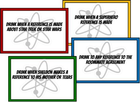 Big Bang Theory Drinking Game - Print  Play!