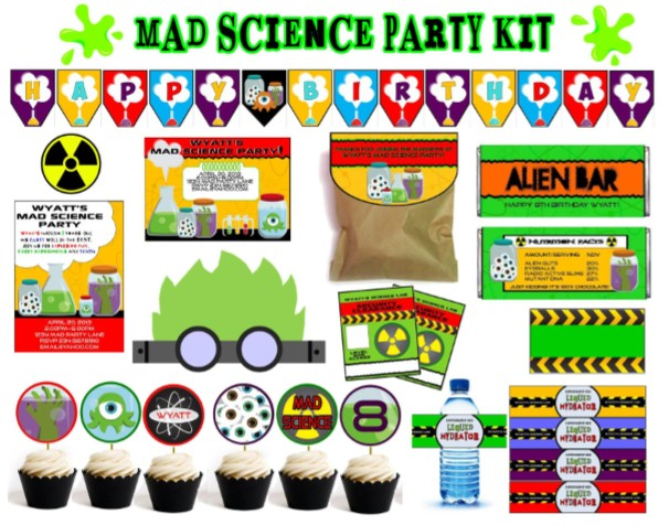 Mad Science Party Games, Ideas, Invitations, and party supplies