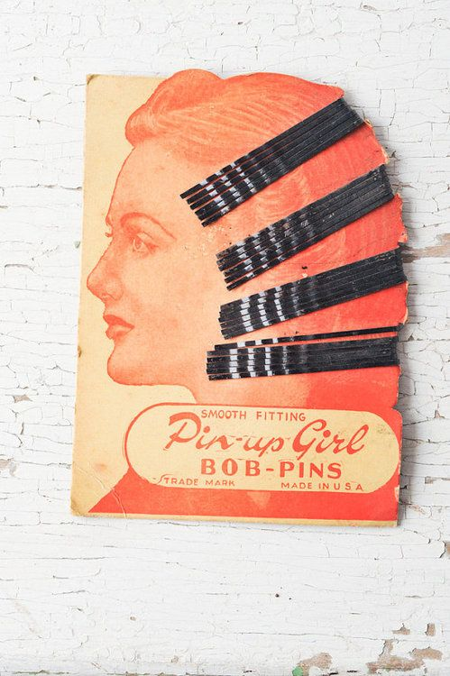 vintage bobby pin packaging