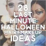 28 ideas for last minute Halloween hair & makeup