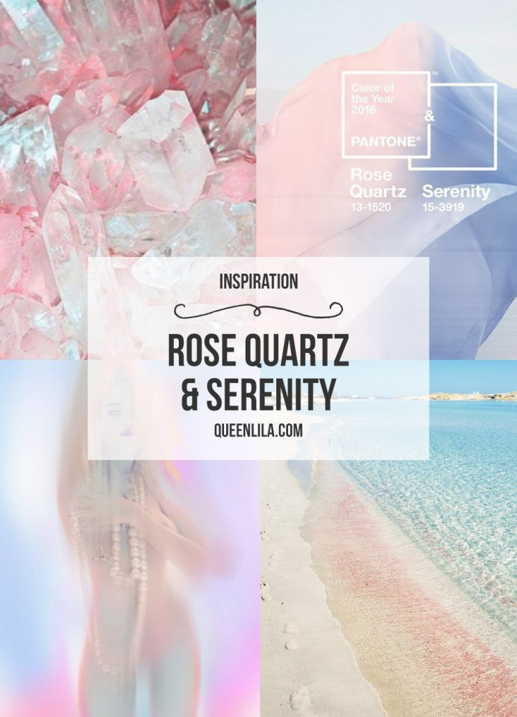 Rose quartz & Serenity inspiration. Click through for the roundup! | Queen Lila