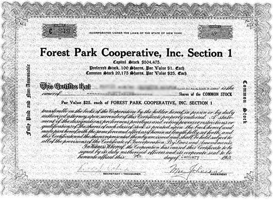 queens-coop-stock-certificate-sample Top Real Estate Agents in