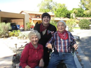 Gramma, Poppo and me at their 65th wedding anniversary in November 2010.