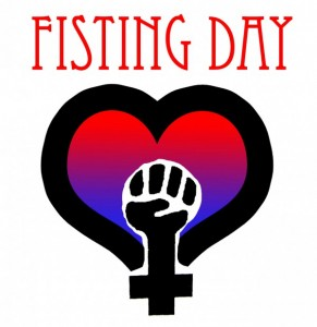 Luckily I won't still be celibate for Fisting Day, my favorite National Holiday.