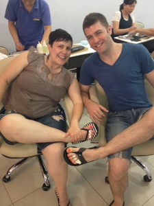 Matt and I getting pedicures in NYC, June 2009.