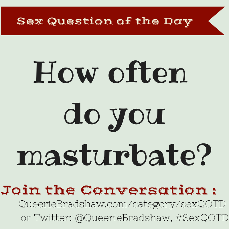 How many times do you masturbate understand you