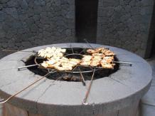 Barbecue du restaurant del diablo (Islote de Hilario)